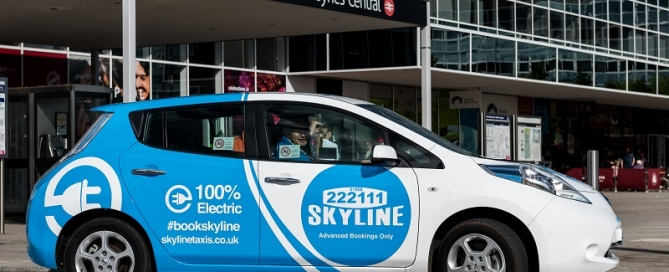 Skyline Taxis Milton Keynes Electric Cars