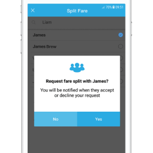 Split Your Fare With Friends